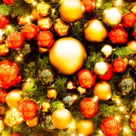 クリスマスの玄関ディスプレイ